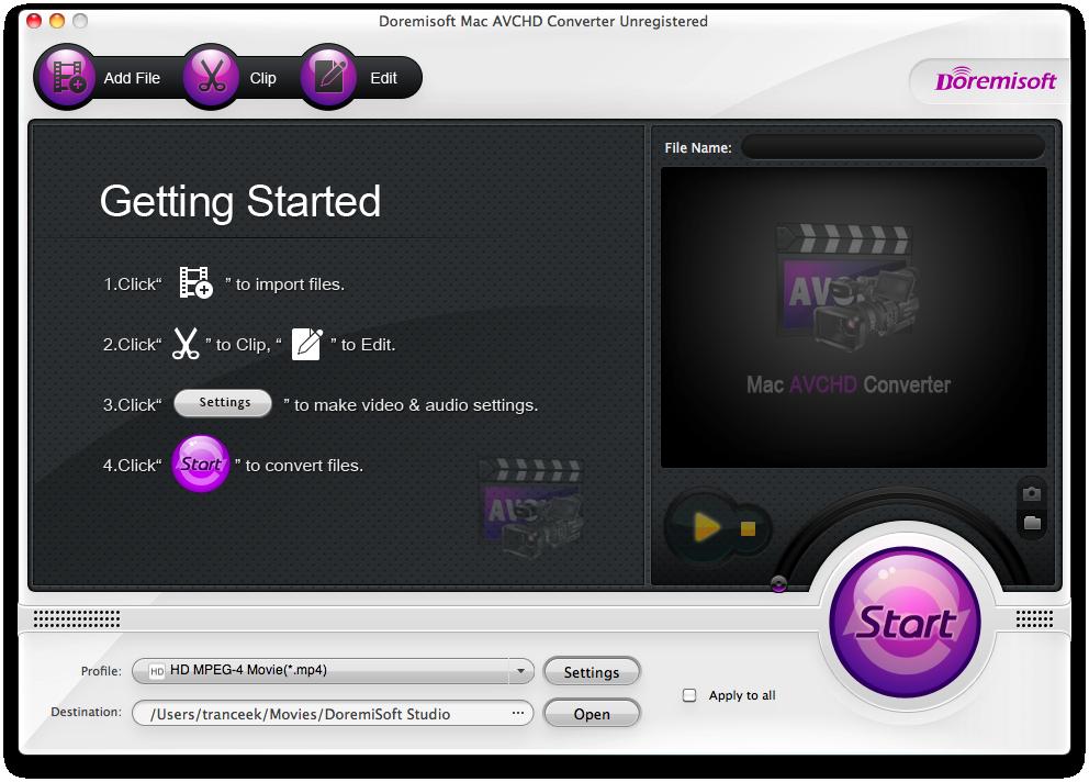 How to Play MTS M2TS TS Files on Mac (OS X Mavericks)