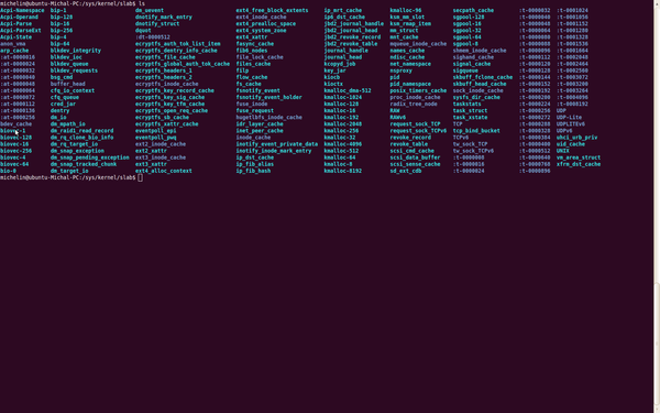 Linux shell list of files