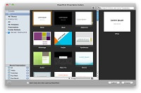 Microsoft PowerPoint 2011 for Mac starting screen