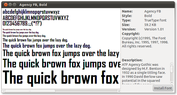How to install new fonts in Linux