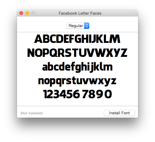 Apple Mac OS X Font Book
