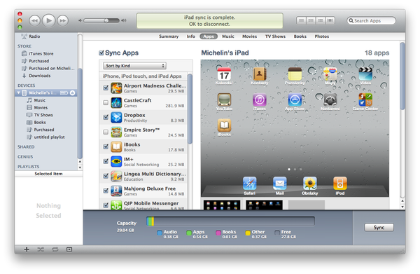 Apple iTunes menu apps