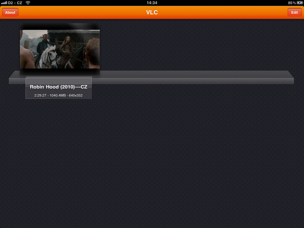 VLC Media Player for iPad library