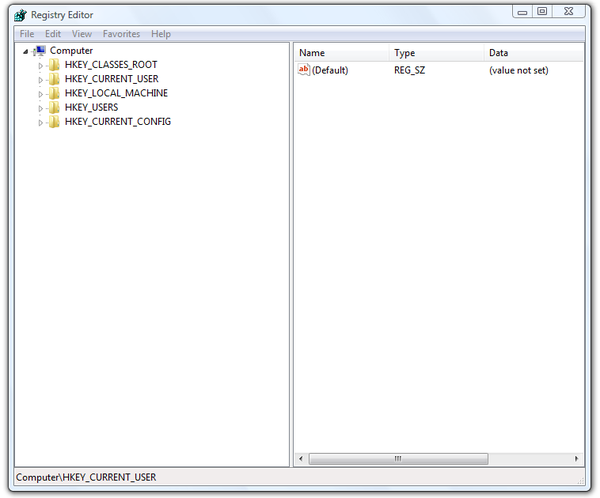 Microsoft Windows Registry Editor