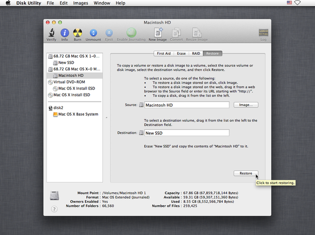 Disk Utility Clone Drives