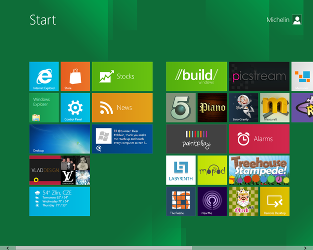 Microsoft Windows 8 Metro application manager