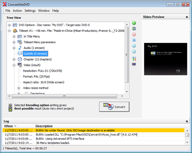 Convert any video to DVD