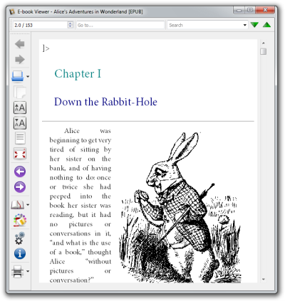 ePUB digital publication opened in Calibre's E-book Viewer.
