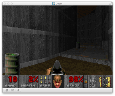 Doom for DOS in Boxer for Mac