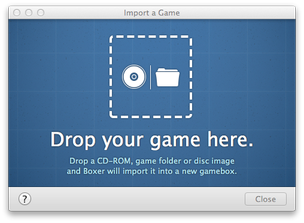 Boxer for Mac game import window
