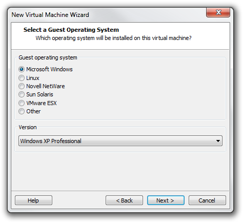 VMware New Virtual Machine Wizard