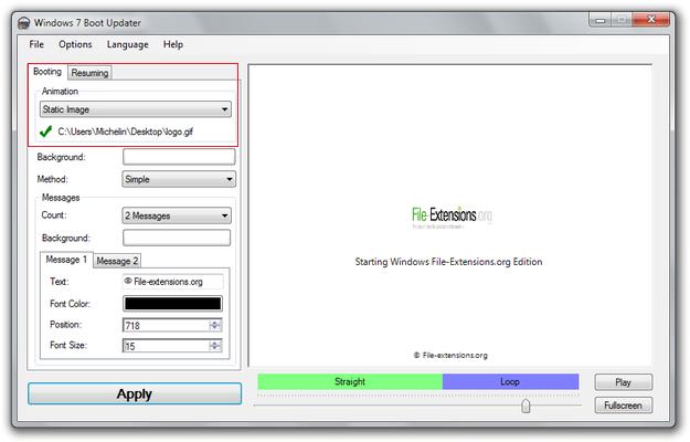 How to create Windows 7 boot screen