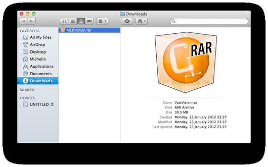 как открыть rar на mac