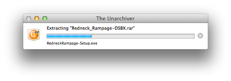 The Unarchiver in progress