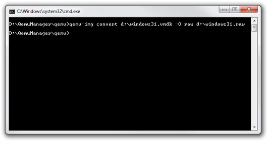 Windows command line qemu-img