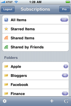 Feeddler RSS Free for iPhone
