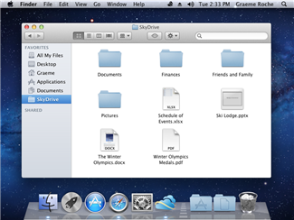 SkyDrive for Mac screenshot.
