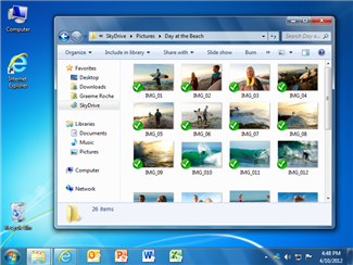 SkyDrive for Windows screenshot.