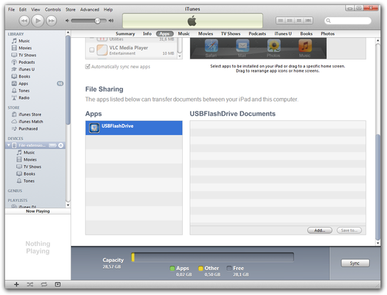 iTunes File Sharing option