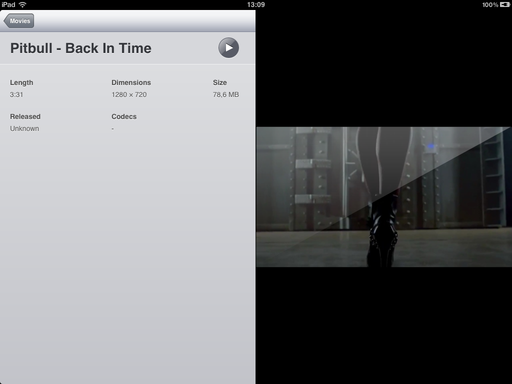 Apple iPad Videos application