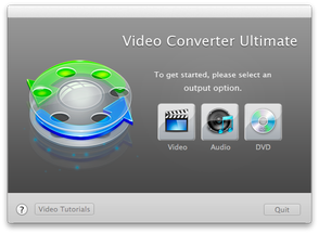 Video Converter Ultimate for Mac welcome options