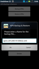 Backup Restore file name