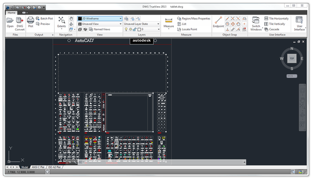 DWG TrueView main window