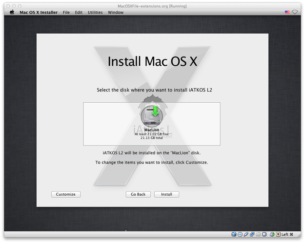 Mac OS X select installation partition