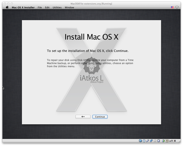 Mac OS X installation