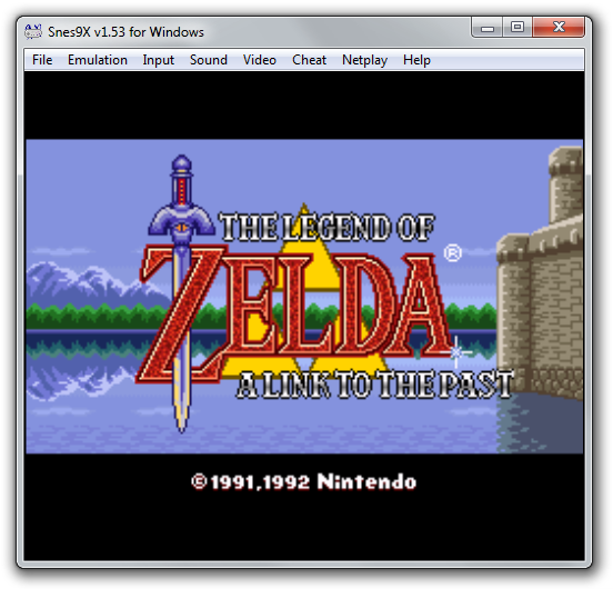 Screenshot of The Legend Of Zelda - A Link To The Past video game emulated using Snes9x.