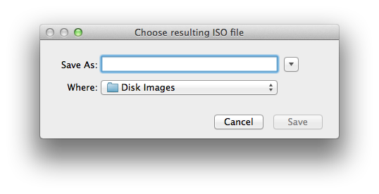 AnyToISO for Mac new ISO disk image