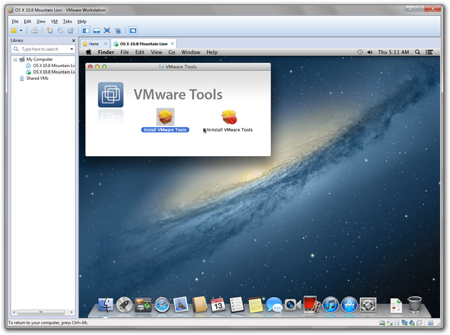 Install VMware Tools to Mac OS X
