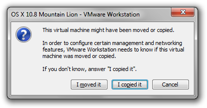 VMware Workstation warning