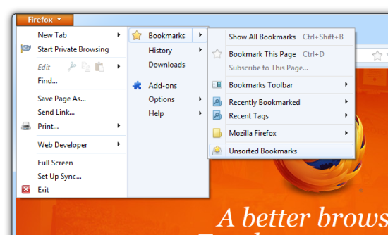 firefox how to delete all book marks