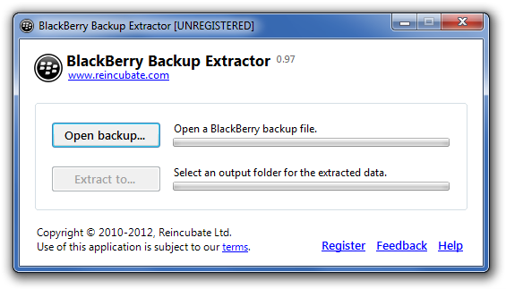 BlackBerry Backup Extractor