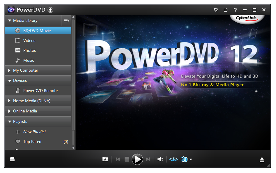 PowerDVD media player