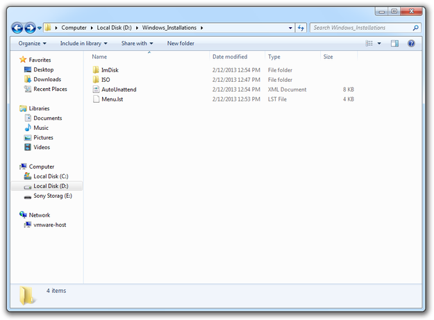 Create bootable USB flash drive with multiple Windows installations