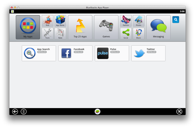 BlueStacks App Player for Mac My Apps