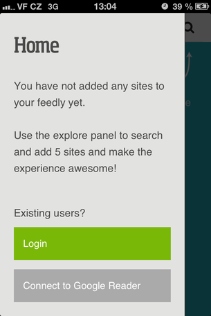 Feedly for iPhone Login