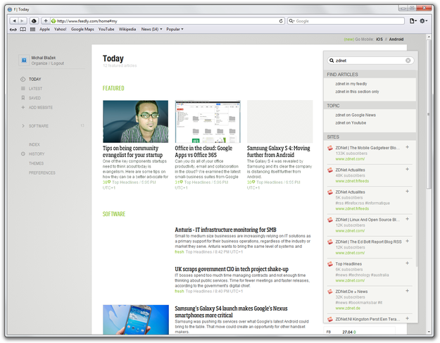 Feedly RSS search