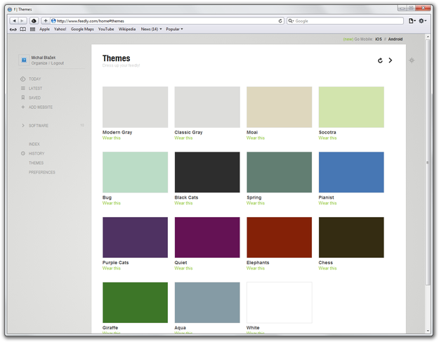 Feedly Themes