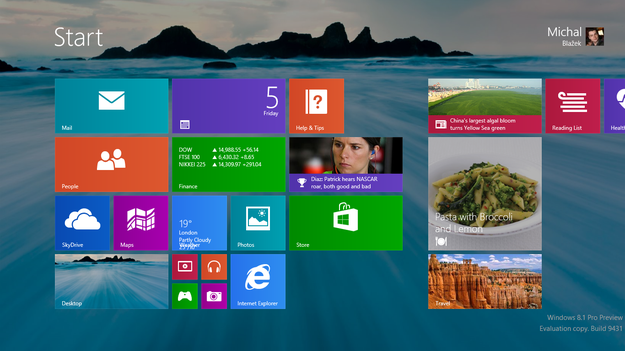 Windows 8.1 Blue Metro Wallpaper