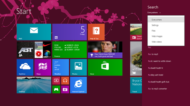 Windows 8.1 Blue Search