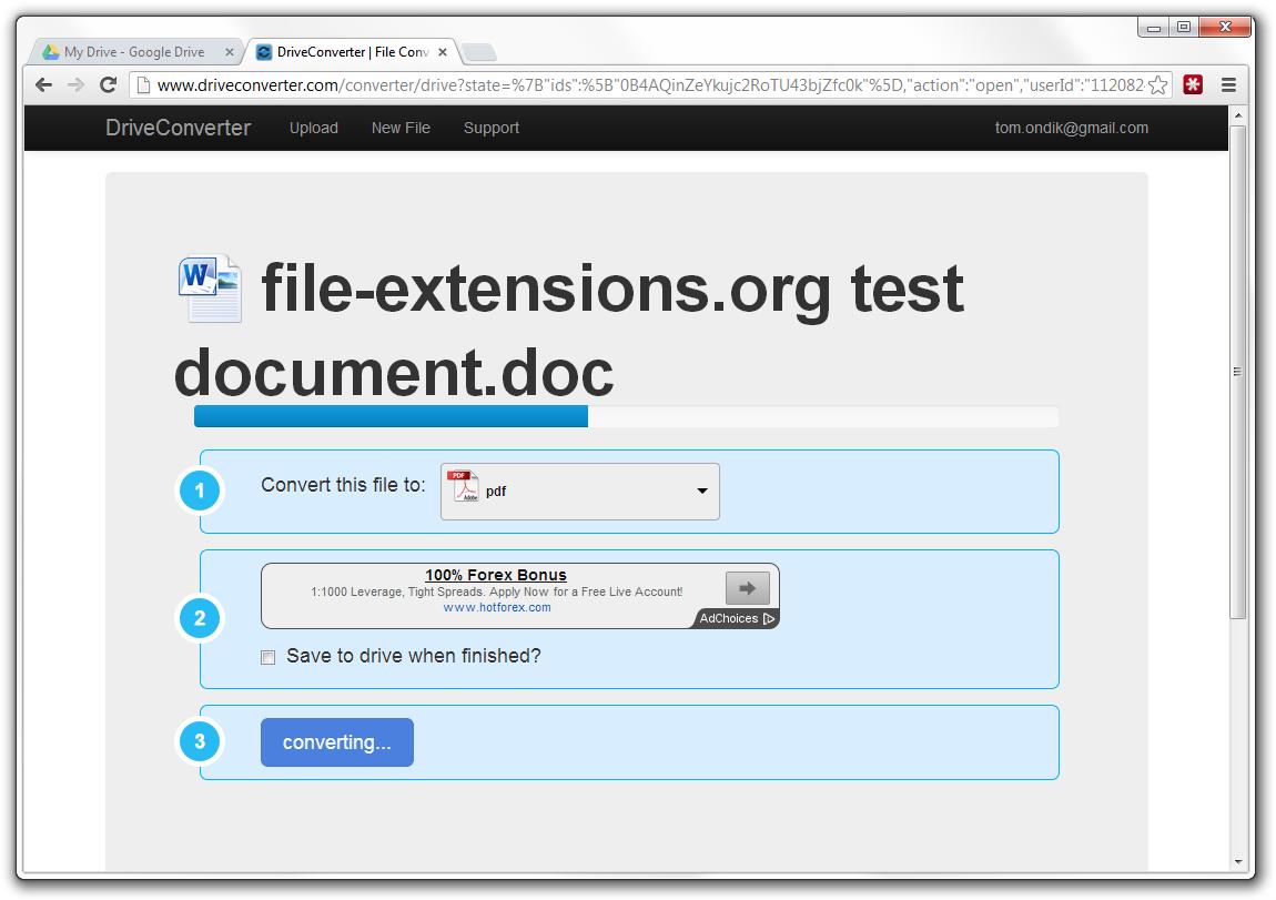 Convert files inside Google Drive