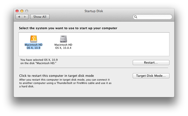 Apple Mac OS X Startup Disk Utility