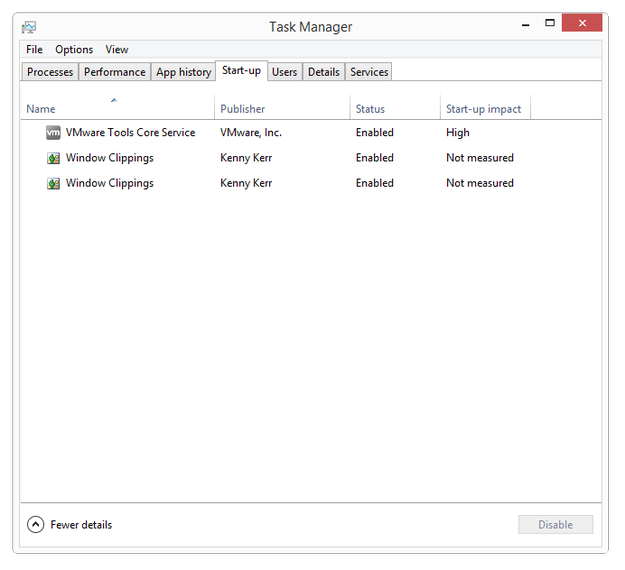 How to manage Start-up wit task manager