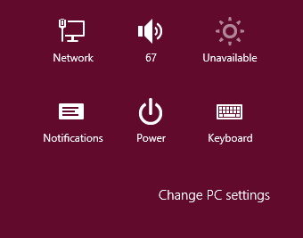 Windows 8 Charms Settings Change PC Settings