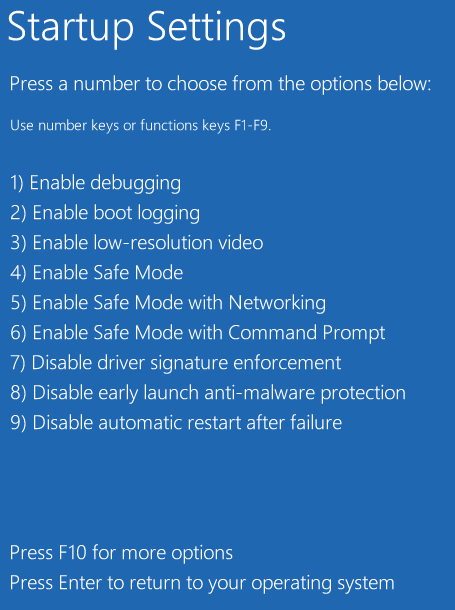 Windows 8 Boot Menu to Safe Mode