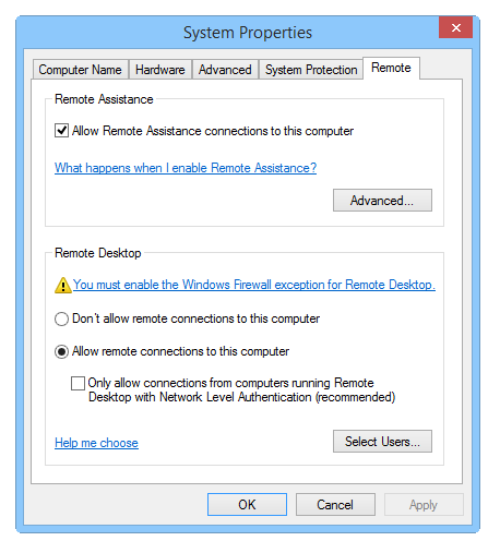 Before you connect to a remote desktop session, you can set a variety of options that affect how the remote desktop session will behave. To summon these options.