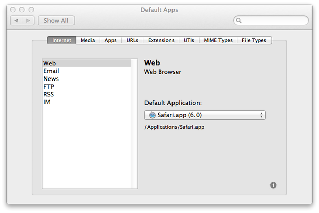 how to change default file opener